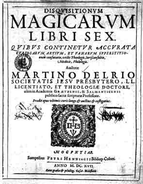 Disquisitionum Magicarum Libri Sex M Del Rio 110