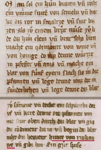 Rheingauer Hühner - Ein Rezept aus dem Mittelalter